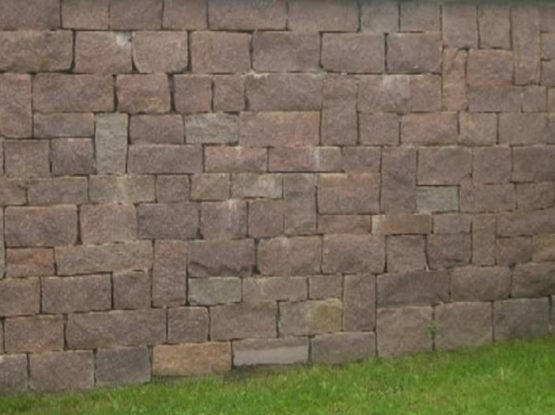 Porphyry coarse tiles and wall